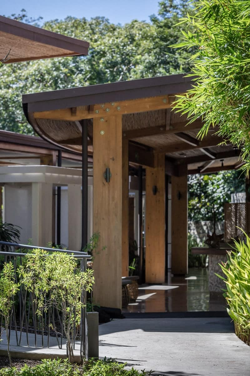 Entrance to Ostra Restaurant at Andaz Resort in Costa Rica.