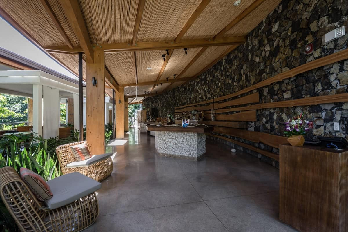 Bar area at Ostra Restaurant at Andaz Resort for wedding receptions.