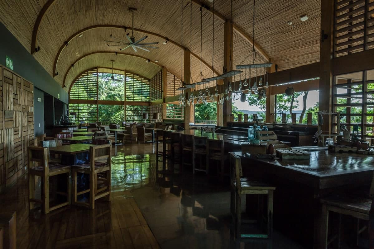 Inside view of seating area for wedding rehearsals and receptions at Andaz, Papagayo.