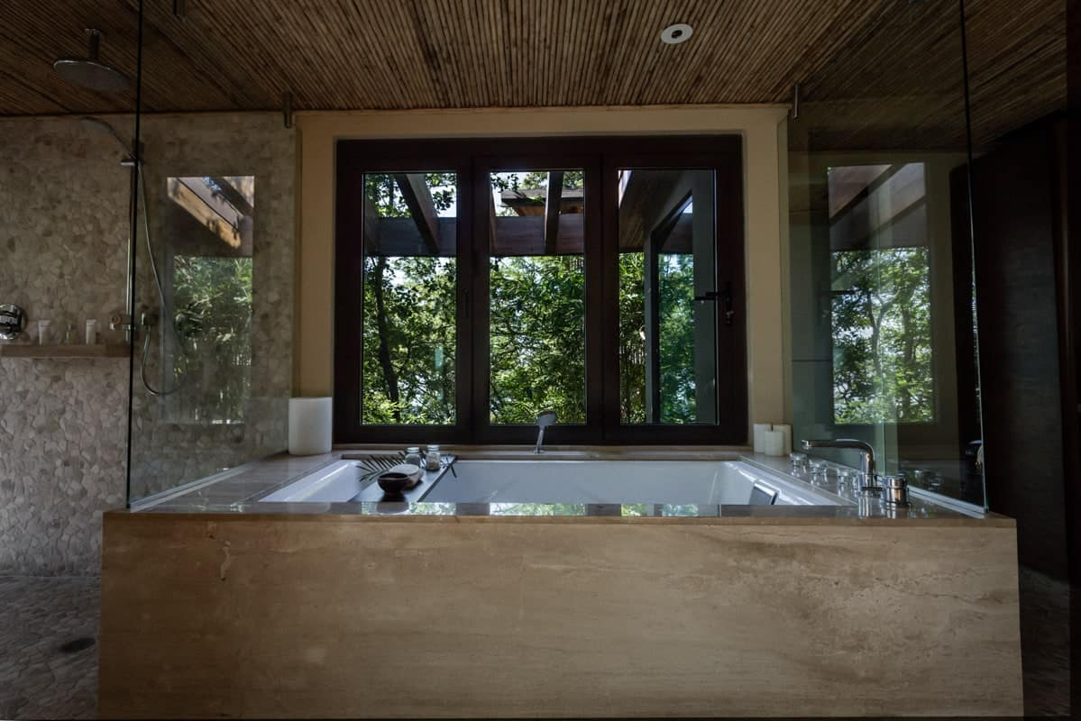 Bungalow at Andaz Resort in Costa Rica for massages and spa treatments.