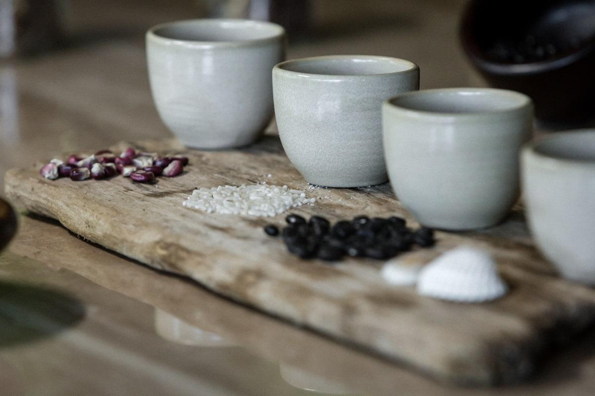 Ingredients for a personalized spa treatment at Onda Spa at Andaz at Papagaryo Resort.