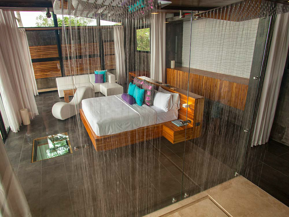 Luxury master suite at Kura Hotels in Costa Rica