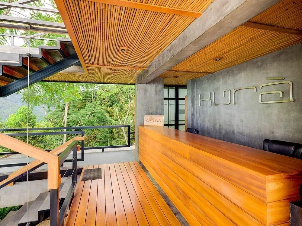 Gorgeous guest reception area at Kura, Costa Rica.