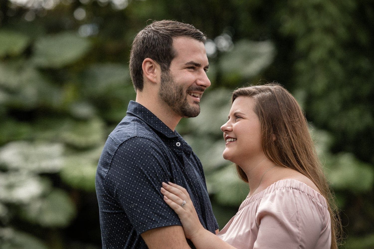 Photo of couple in love at La Paz Waterfall Gardens, Costa Rica.