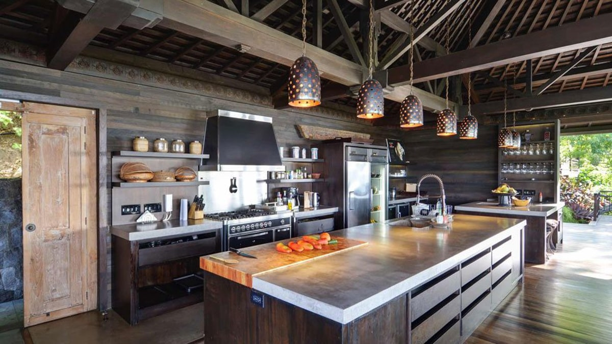 The gorgeous kitchen where your wedding dinner can be prepared while taking in the great views.