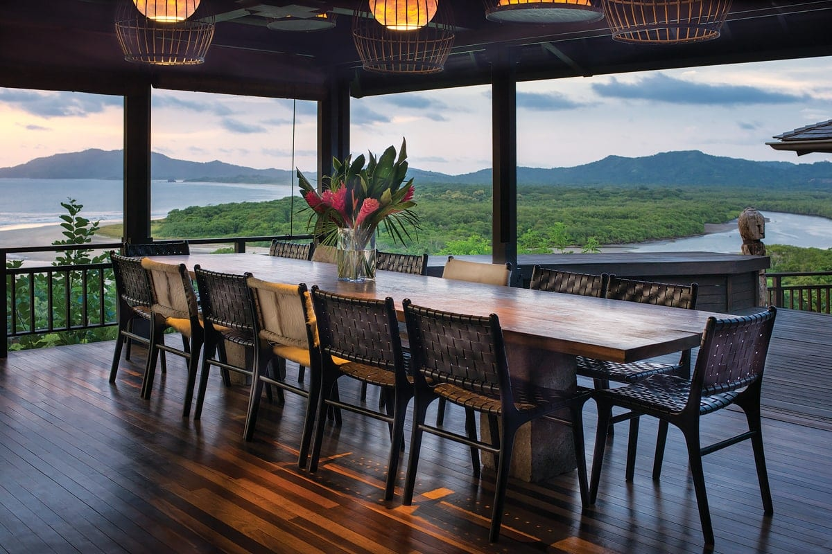 Dining room with spectacular views for your wedding reception and dinner.