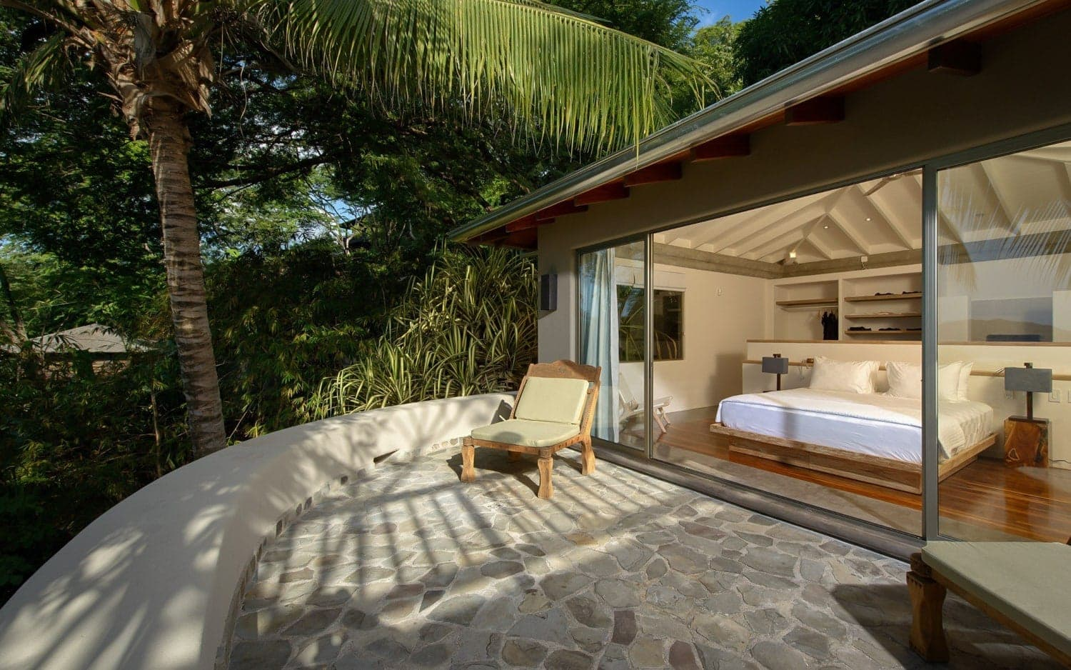Exterior view of honeymoon suite at Sunset House in Tamarindo.