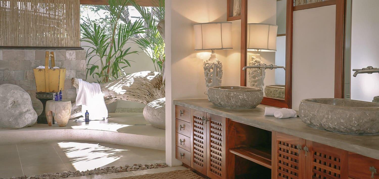 Luxury amenities in suites for wedding guests at Villa Nimbu.