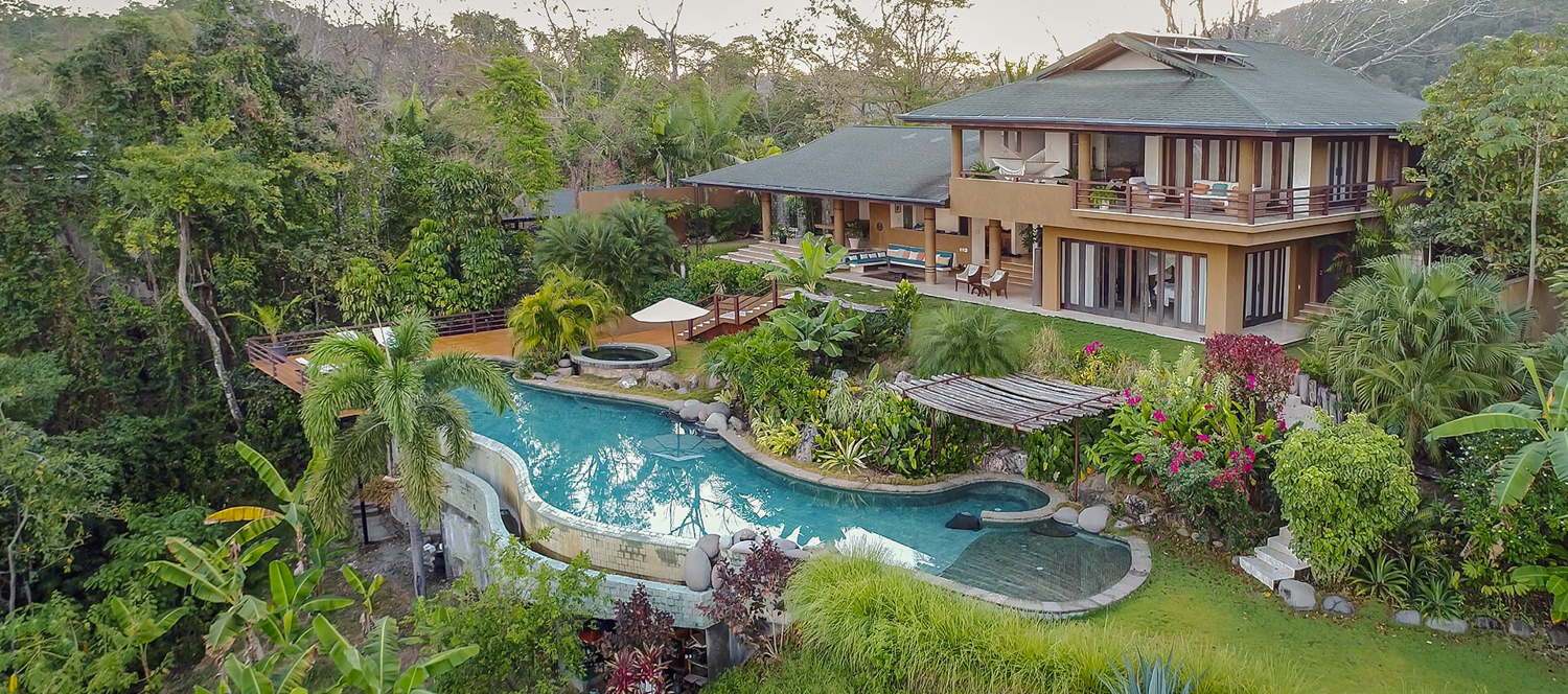 Outside view of Villa Numu and its pool at Ocio Villas in Mal Pais.
