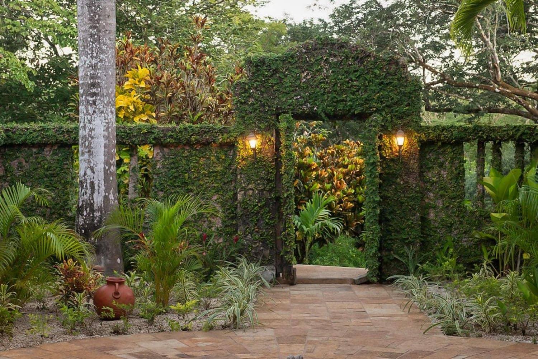View of the beautiful entrance to Hacienda Barrigona from the main courtyard.