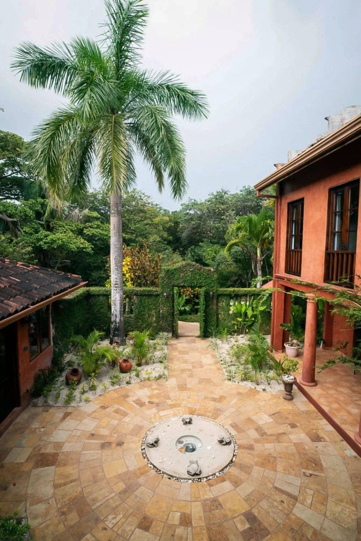 Courtyard wedding ceremony and receptions site at Hacienda Barrigona.