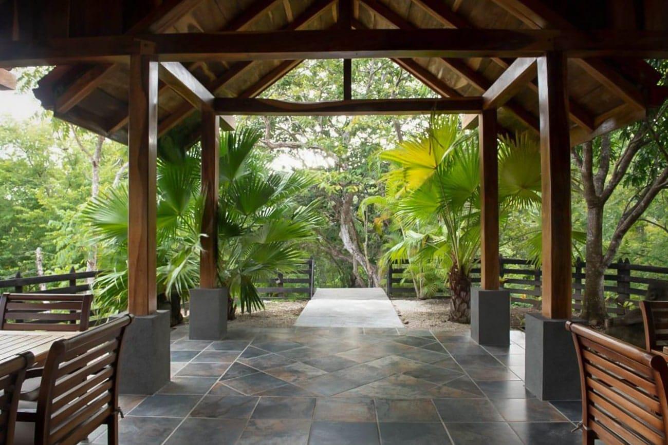 Covered area at Hacienda Barrigona for wedding receptions.