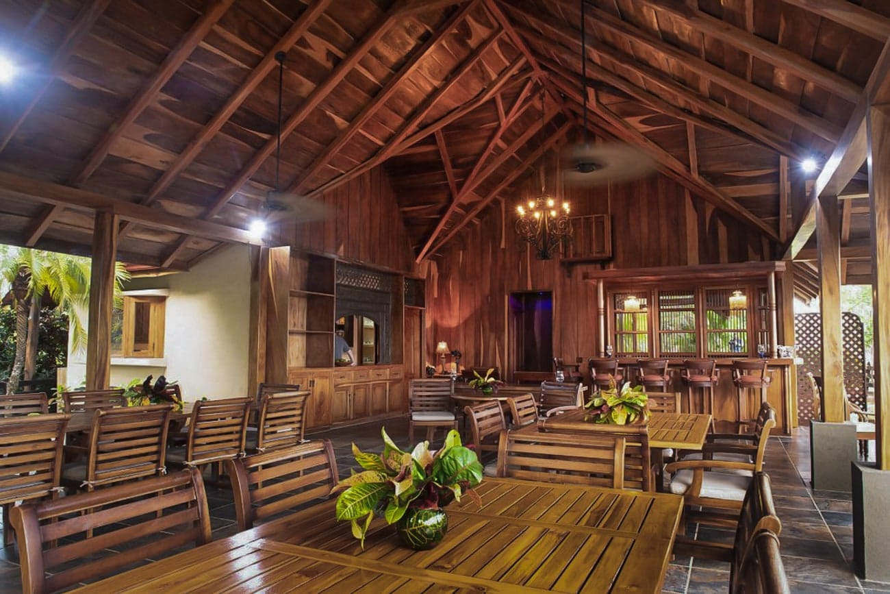 Hacienda Barrigona's restaurant is a great place for wedding receptions.