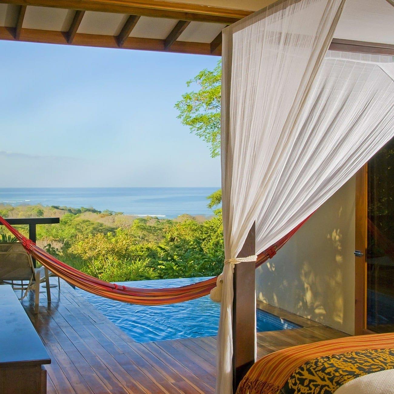Fabulous ocean view from Casa Chameleon Mal Pais' honeymoon suite.