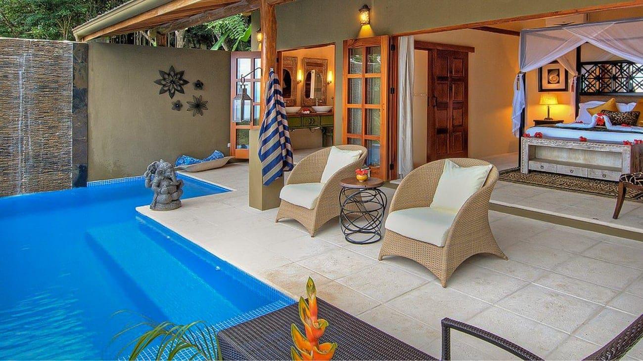 Casa Chameleon Mal Pais' honeymoon suite has a private pool.