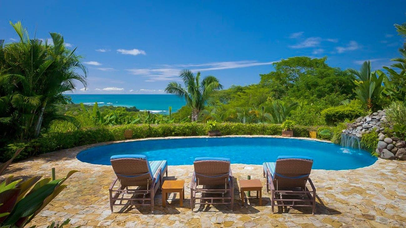 Site for intimate wedding ceremony and reception with stunning beach views Casa Chameleon Mal Pais.