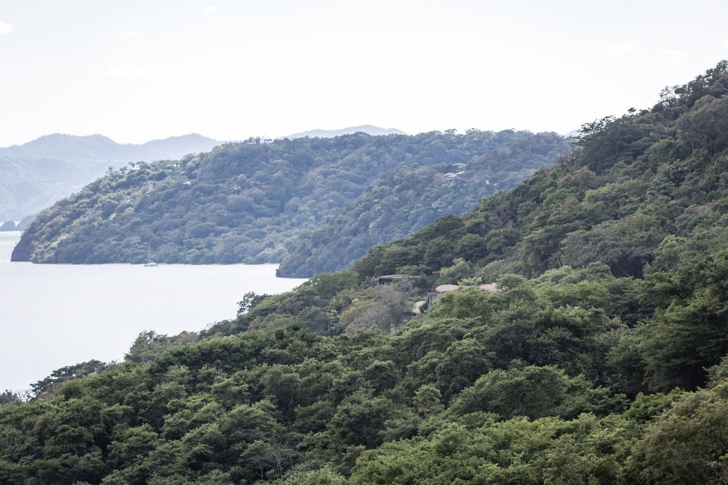 View of Andaz Papagayo from atop a nearby mountain.