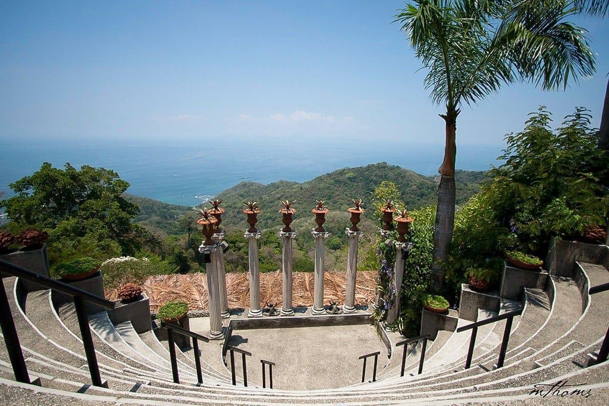 Amphitheater site for weddings at Villa Caletas in Costa Rica.