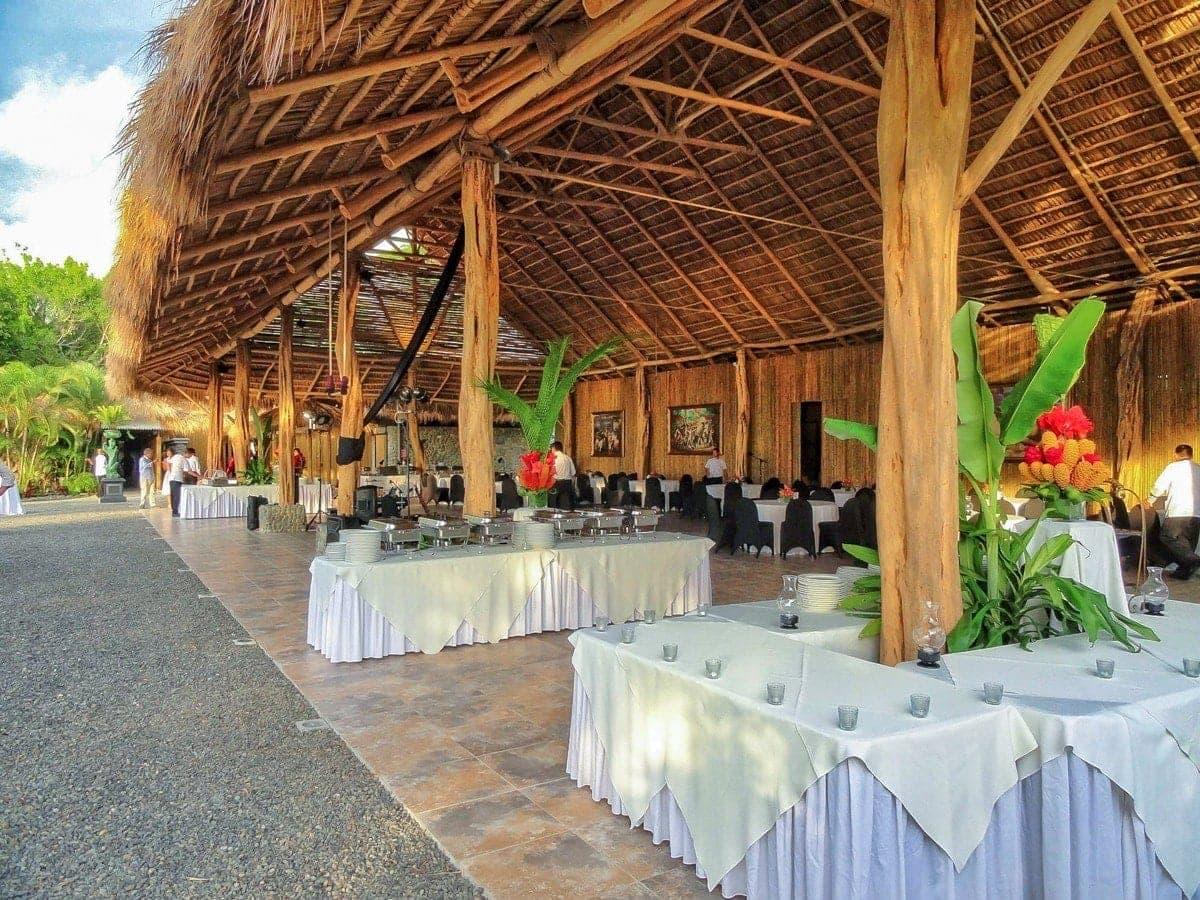Covered area at Rancho Caletas at Villas Caletas for wedding receptions.