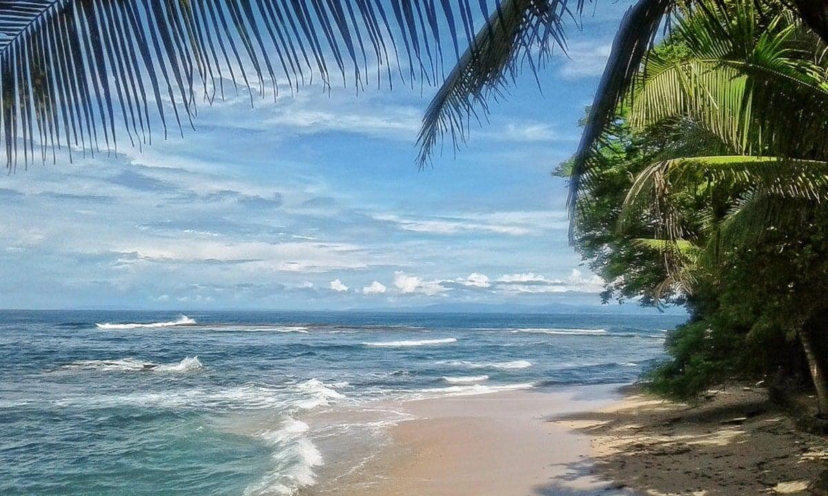 Beach wedding location at Villa Caletas in Costa Rica.