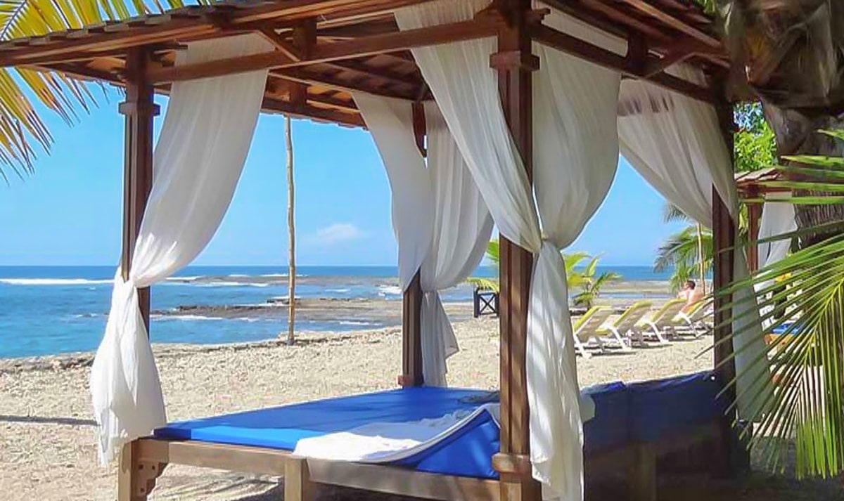 Cabana on the private beach at Villa Caletas.