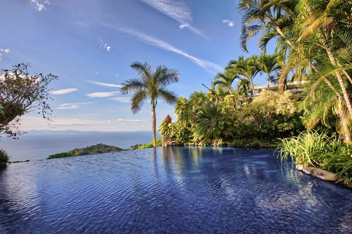 Infinity pool at Villa Caletas with amazing ocean Views.