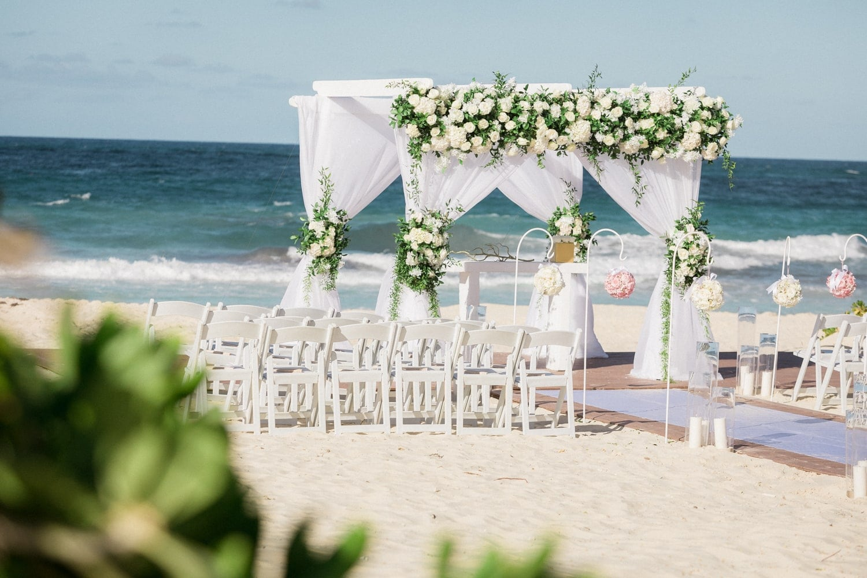 Amazing beach wedding ceremony location at Hard Rock Resort, Dominican Republic.