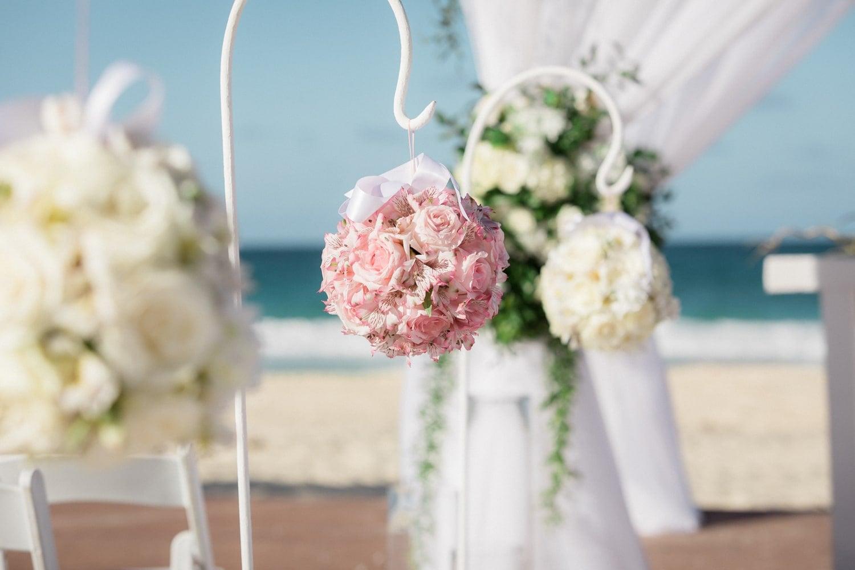 Hard Rock Resort's Punta Cana beach wedding ceremony location.