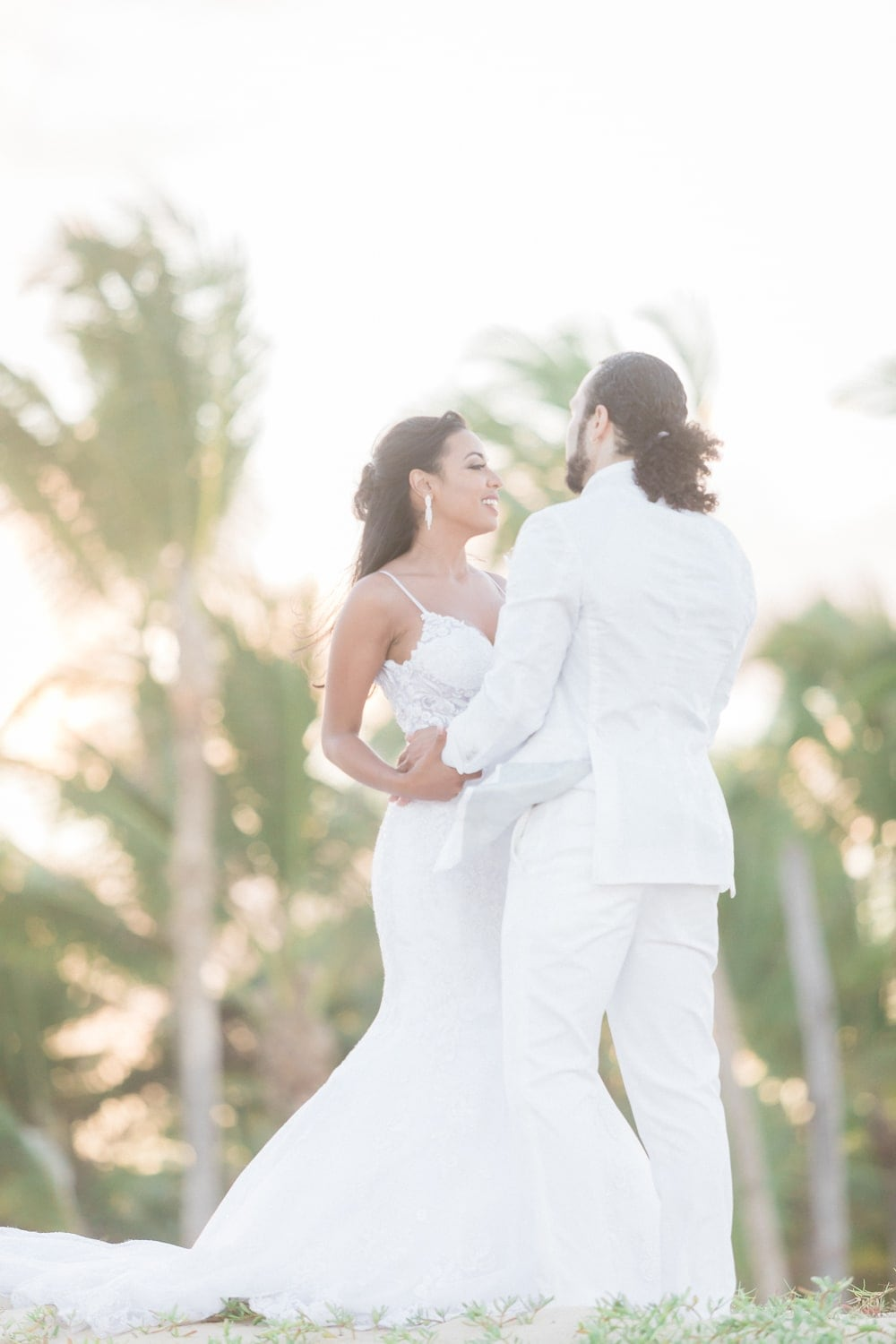 Photo of bride and groom after getting married at Hard Rock in Dominican Republic.