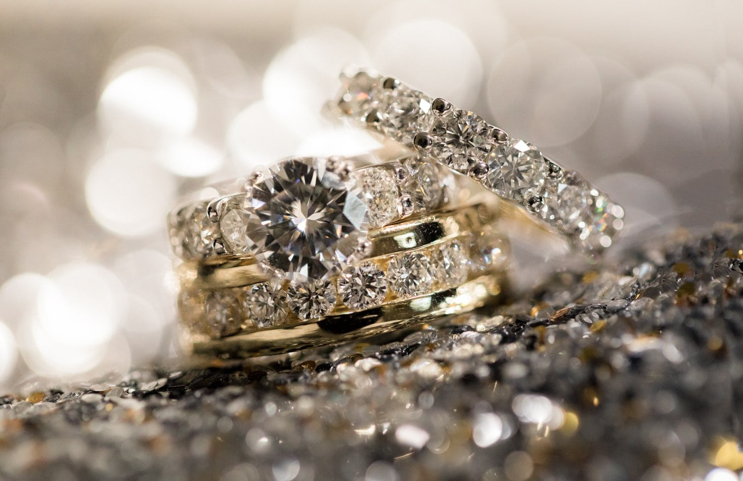 Gorgeous wedding bands for couple getting married at Hard Rock Resort in Dominican Republic.