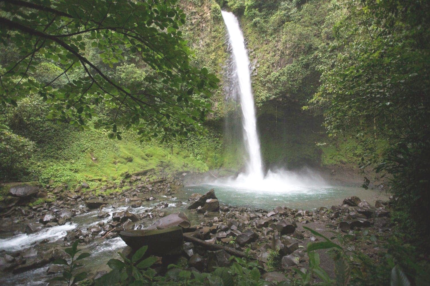 La Fortuna Waterfall in Arenal Volcano National Park.