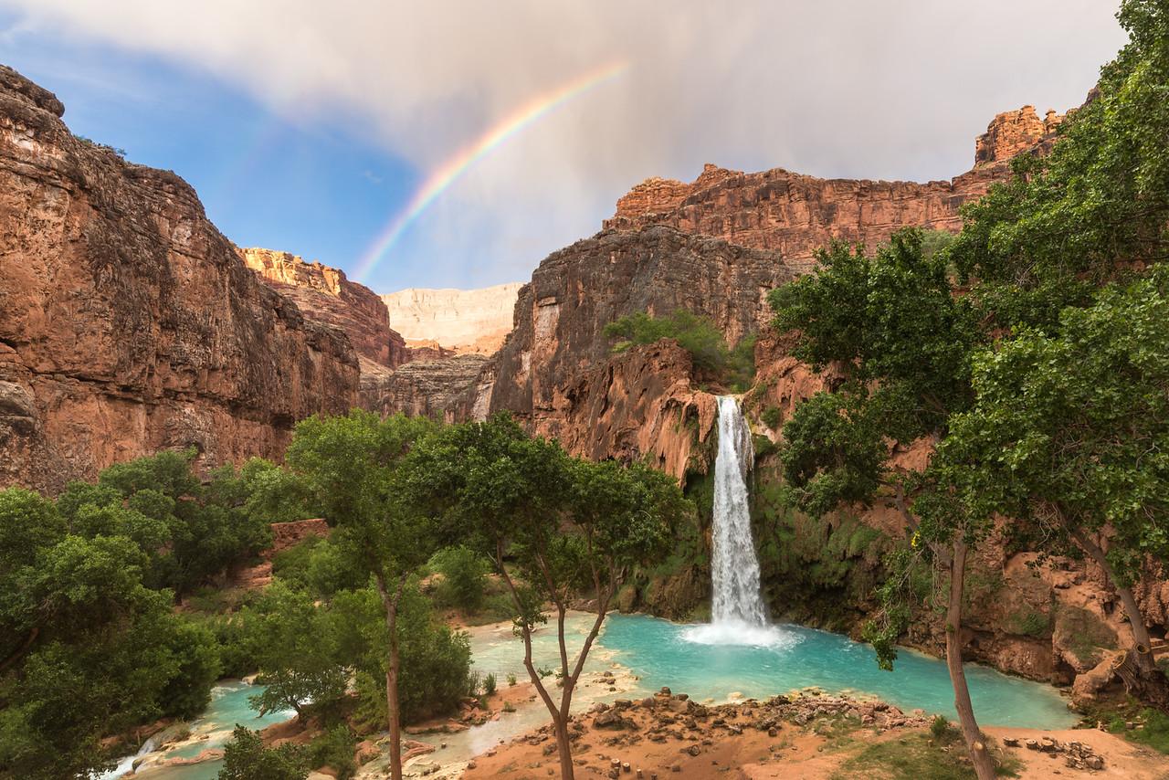 Rainbow over Havasu Falls