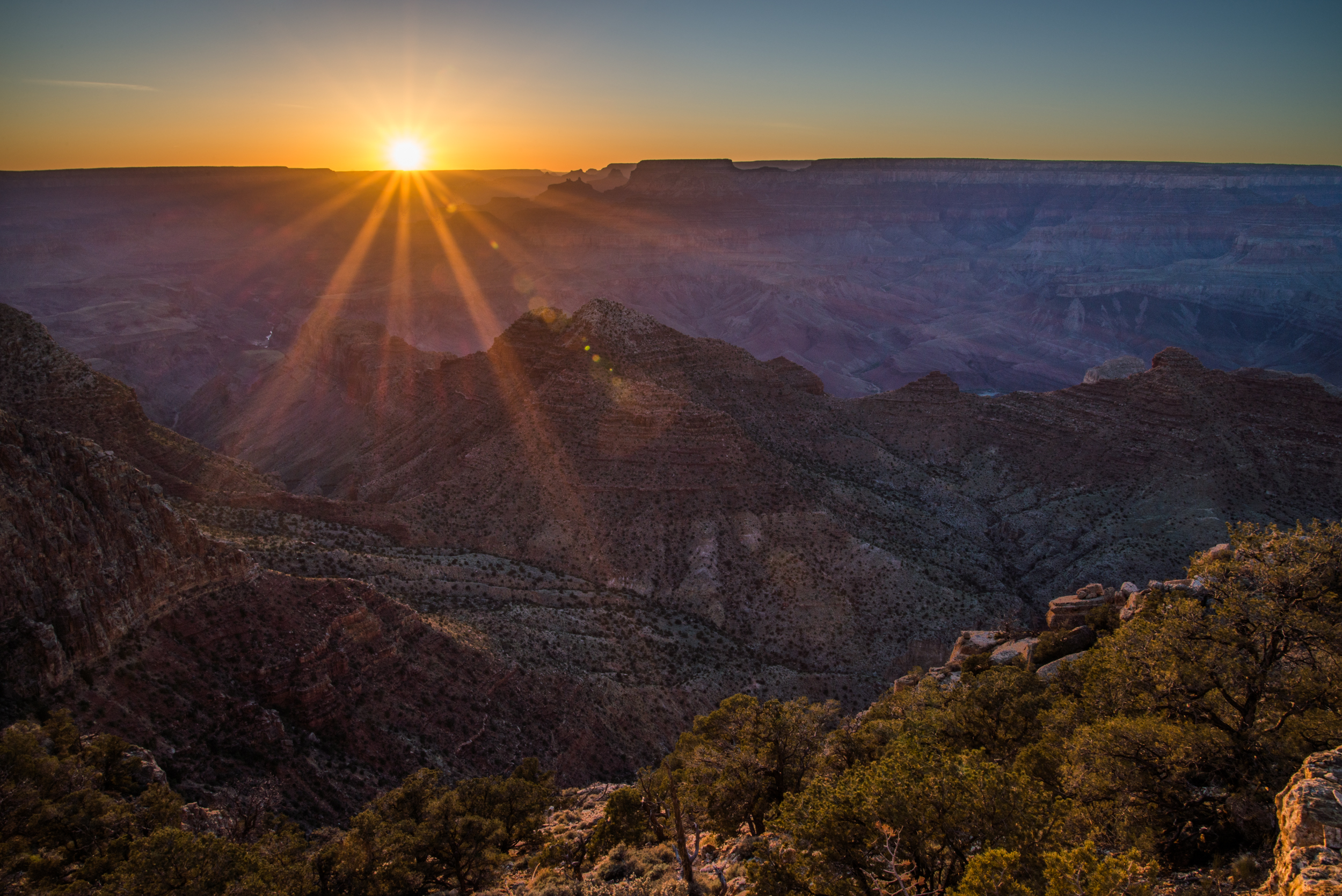 Sunset Over the Grand Canyon II