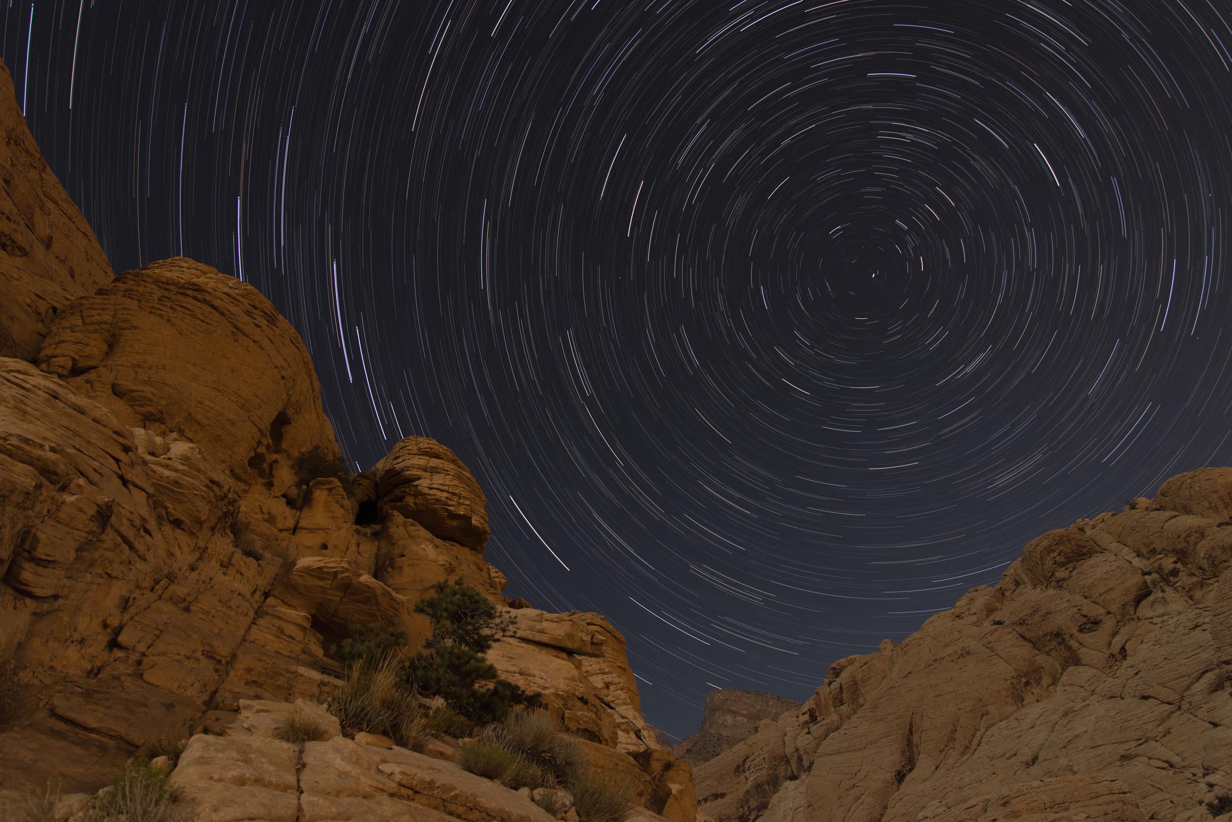 Star Trails - Calico Tanks, NV