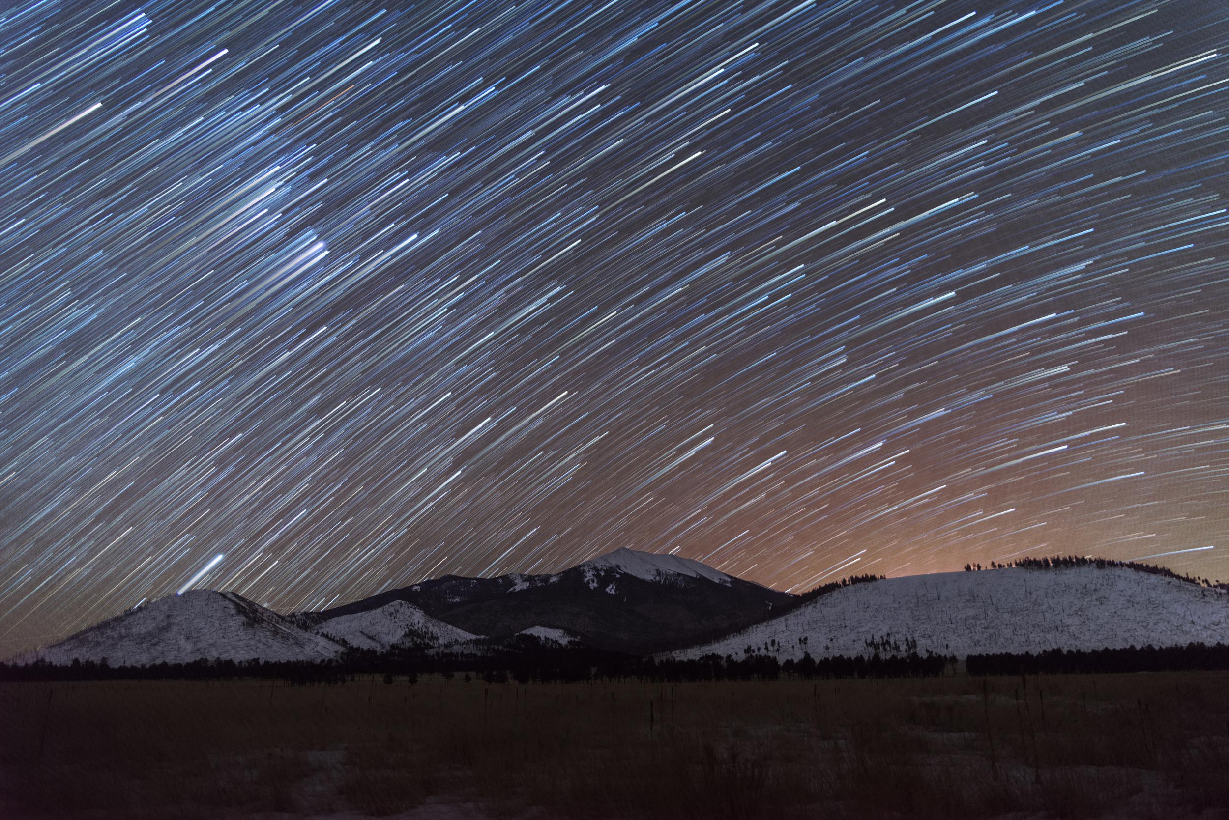 Peaks Star Trails