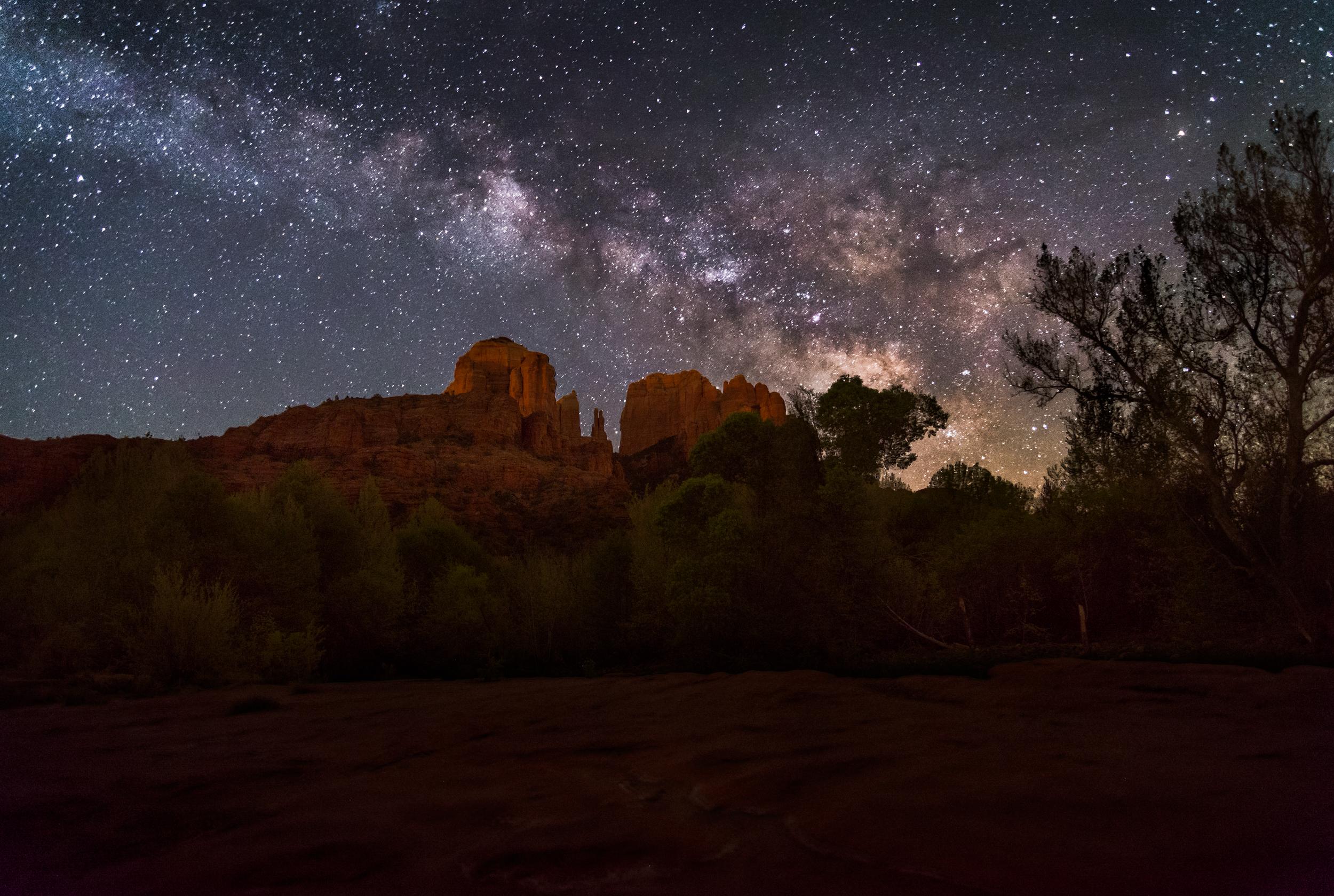 Cathedral Rock Milky Way