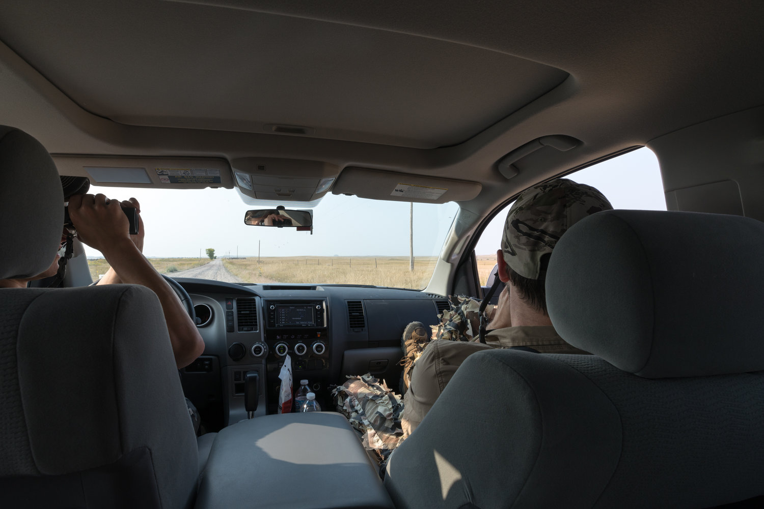 A common theme inside the vehicle as we stopped frequently to glass for antelope.