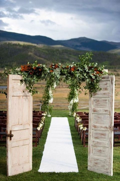 Rustic Wedding Unique Ceremony Doors.jpg