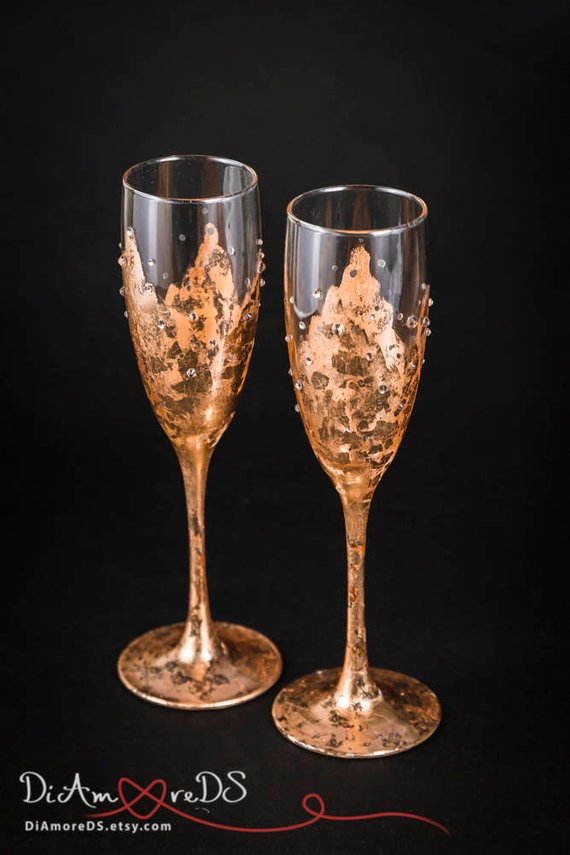 Copper Painted Champagne Flutes.jpg