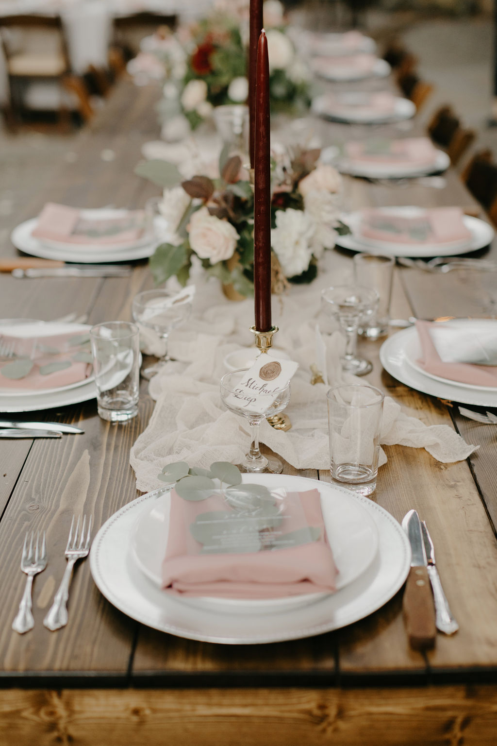 Deer Park Villa Wedding Planner Perfectly Planned Moments Nirav Patel Photography Bellevue Floral Co Farm Table Candles.JPG
