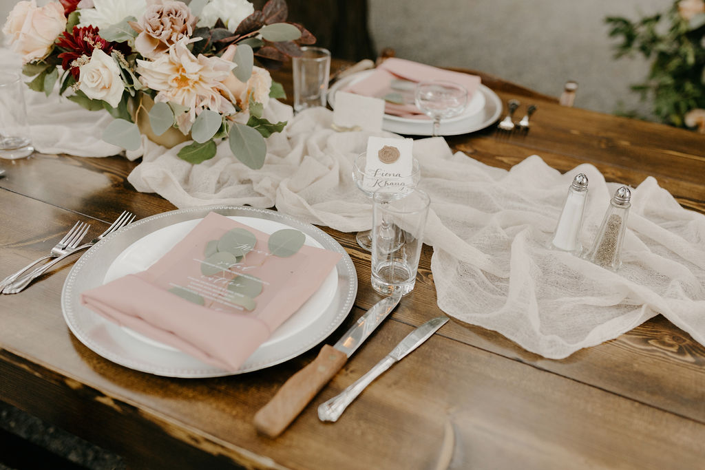 Deer Park Villa Wedding Planner Perfectly Planned Moments Nirav Patel Photography Farm Table Place Settings.JPG