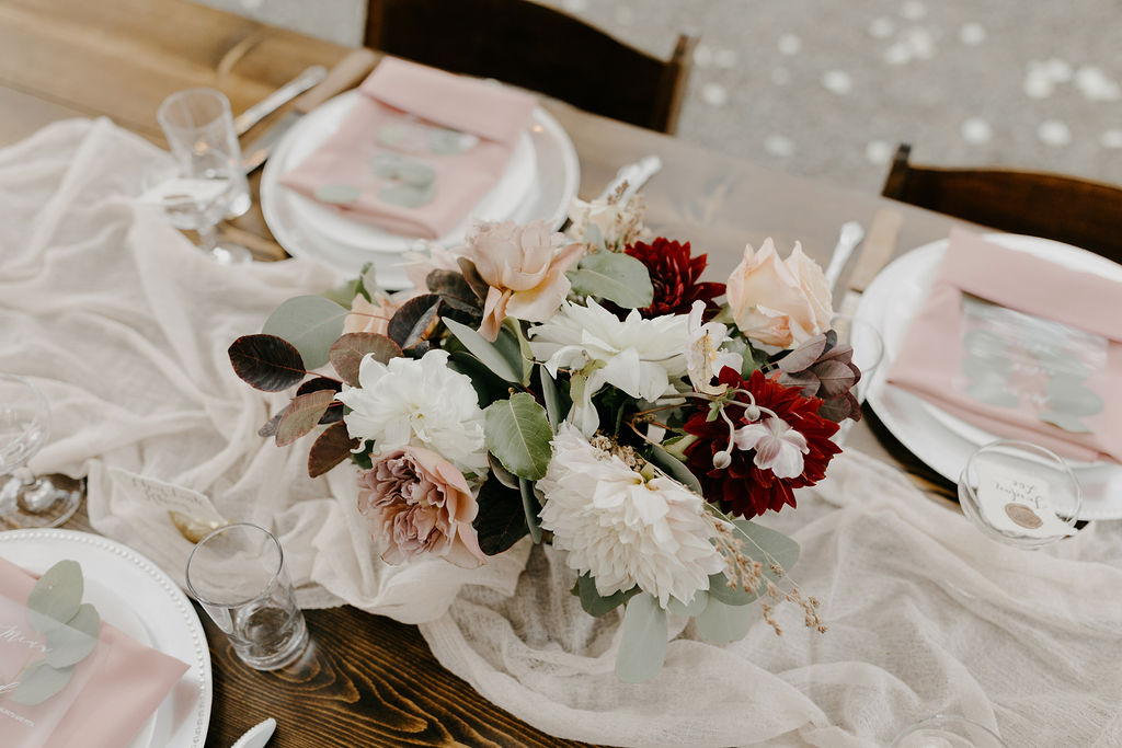 Deer Park Villa Wedding Planner Perfectly Planned Moments Nirav Patel Photography Farm Table Arrangements.JPG
