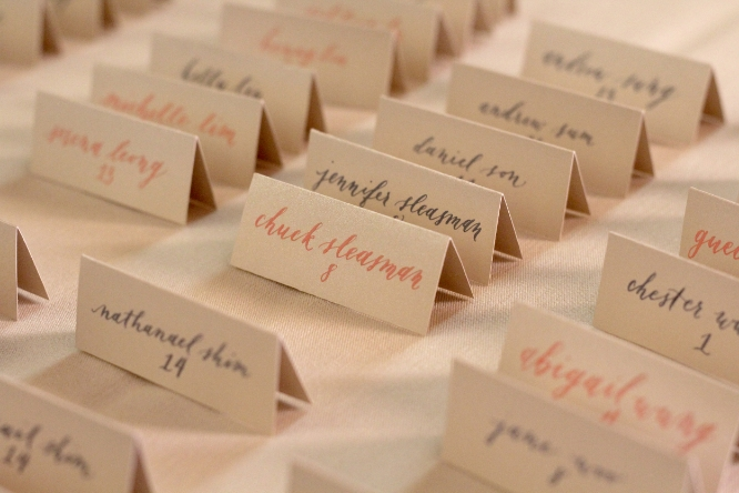 Sojourner Calligraphy | Bespoke Wedding Calligraphy