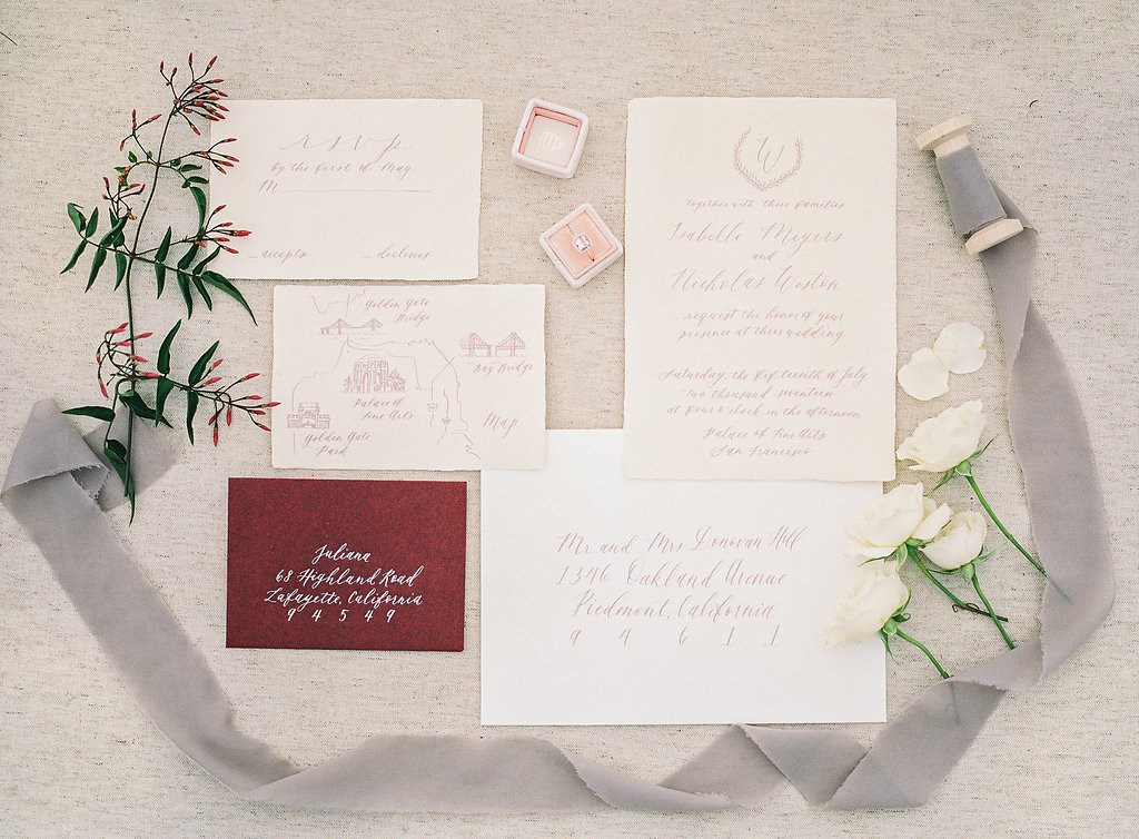 Mount Tamalpais Styled Shoot Invitation suite