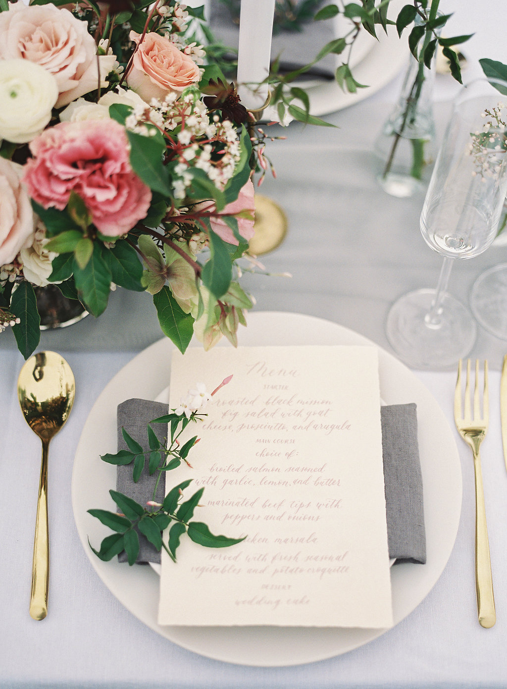 Mount Tamalpais Styled Shoot Menu