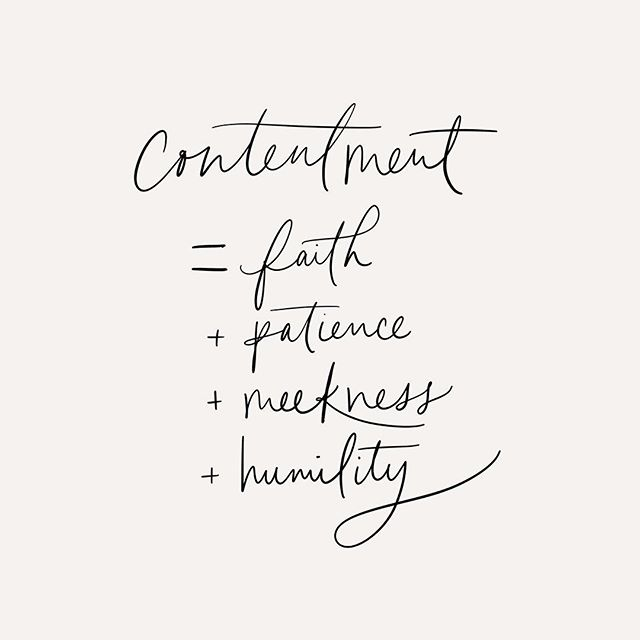 I've been reading The Art of Divine Contentment by Thomas Watson with a group of ladies from my church and came across this simple definition of contentment. ⠀ Faith - God is good⠀ Patience - in His timing⠀ Meekness and humility - submission to God's sovereign plan, trusting that He knows what is good for us better than we do⠀ .⠀ .⠀ .⠀ #christianity #christiancreative #christ #gospel #goodnews #bible #bibleverse #biblelettering #scripture #faith #scriptureart #illustratedfaith #biblecalligraphy #moderncalligraphy #modernscript #pointedpen #brushcalligraphy #brushlettering #calligraphy #calligrapher #ipadpro #ipadlettering #bedeeplyrooted
