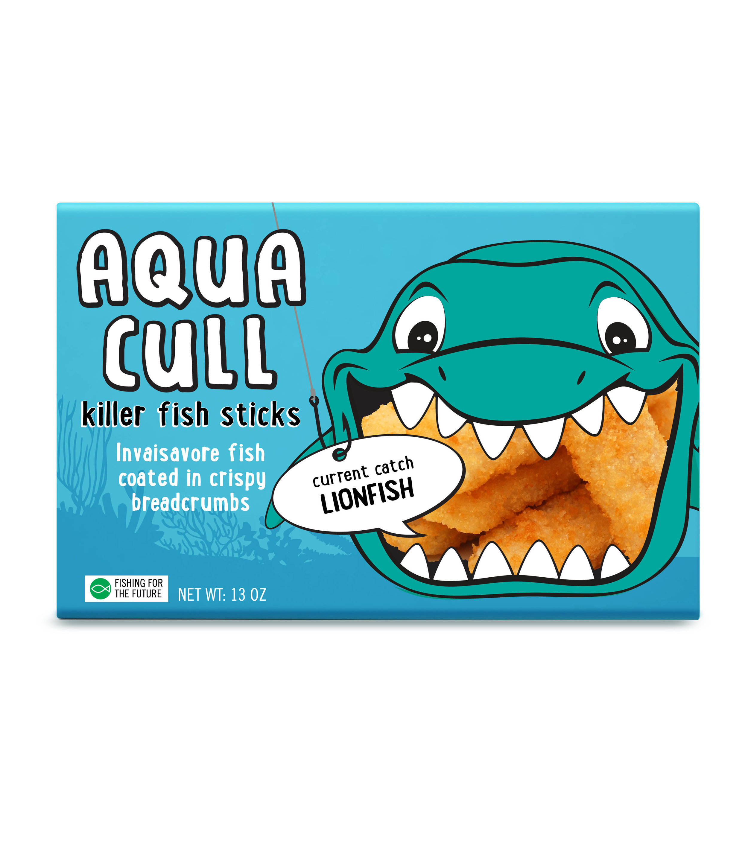 Aqua Cull    Aqua Cull fish sticks help the environment and taste delicious! With each crunchy, satisfying bite, you're getting nutritious seafood that helps our water ecosystems stay balanced and sustainable. Made with regionally-based, invasive fish varieties, our crispy baked sticks are perfect for quick dinners the whole family will love.