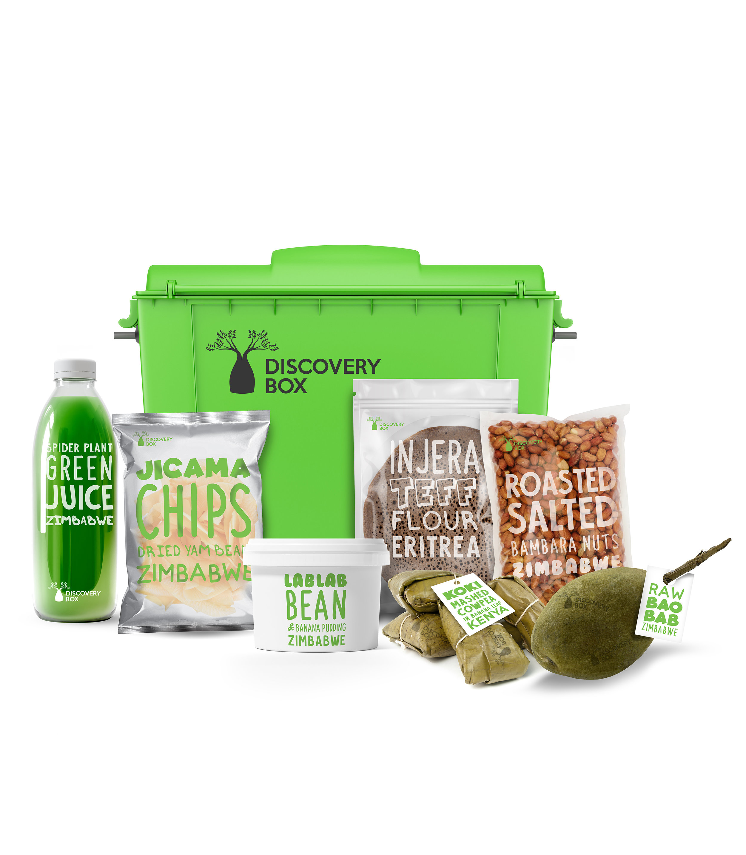 Discovery Box    Discovery Box is a monthly subscription box filled with foods from the Rediscovered initiative's 25 crops list and more.