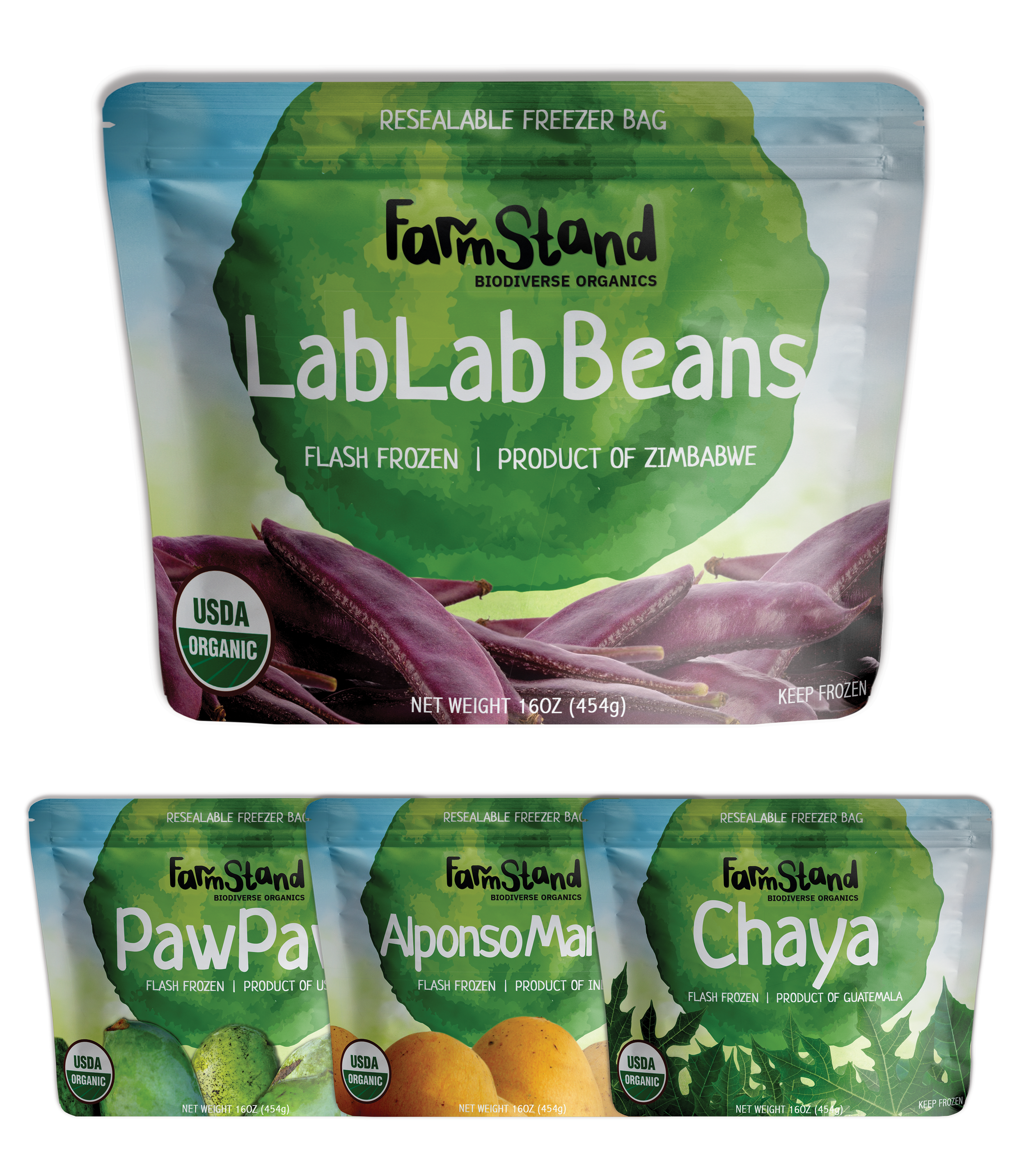 Farmstand    Farmstand Biodiverse Organics is the world leader in promoting a more biodiverse and delicious freezer section. Our flash frozen fruits and vegetables from around the world lock in these foods at their peak freshness to be enjoyed whenever the occasion strikes for you.