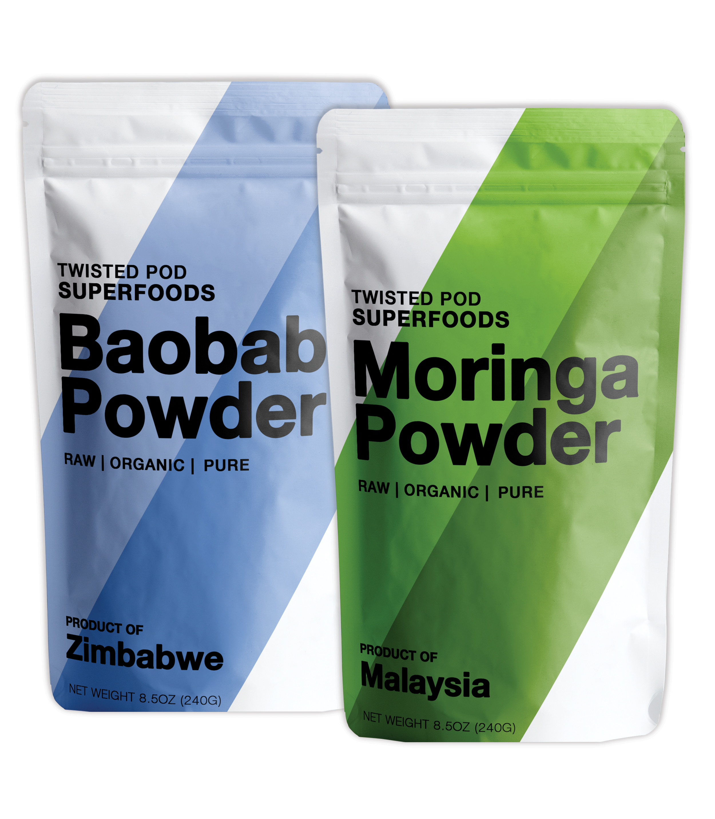 Twisted Pod    When you need to perform at your best, Twisted Pod Superfoods has got your back and your blender. A dose of our Moringa or Baobab powders, along with a healthy diet and exercise, will keep your body in tune and have you feeling great.